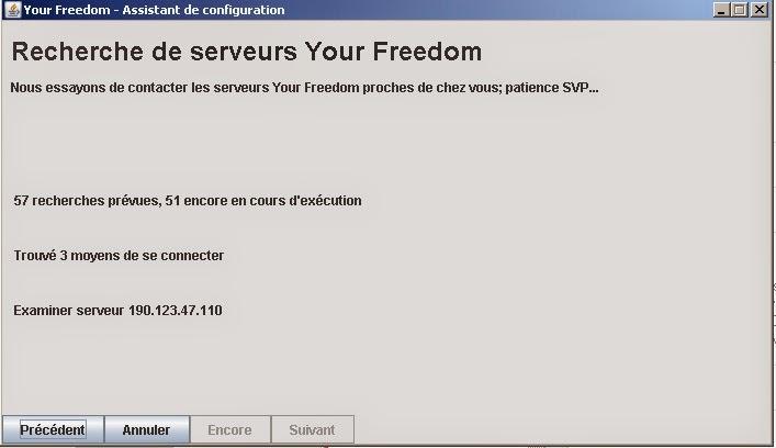 Freedom Recherche des serveurs