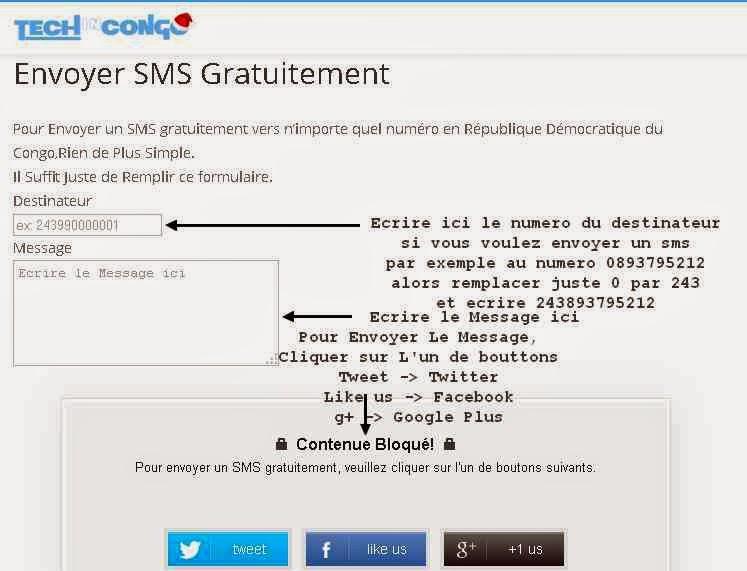 Envoyer SMS Gratuitement au Congo