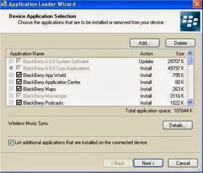 Installation Blackberry OS