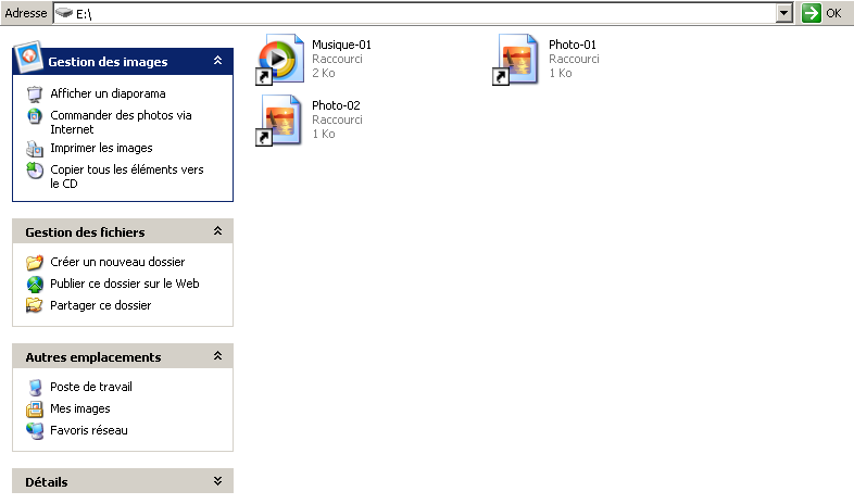 virus raccourcis windows xp