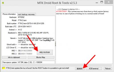 MTK DroidTools change IMEI