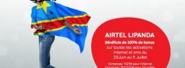 AIRTEL LIPANDA : 100% de bonus sur les activations INTERNET et SMS