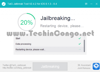 TaiG Jailbreak en cours