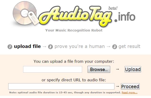 Audiotag-Reconnaitre une chanson sans titre