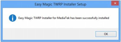 TWRP Installer successfully