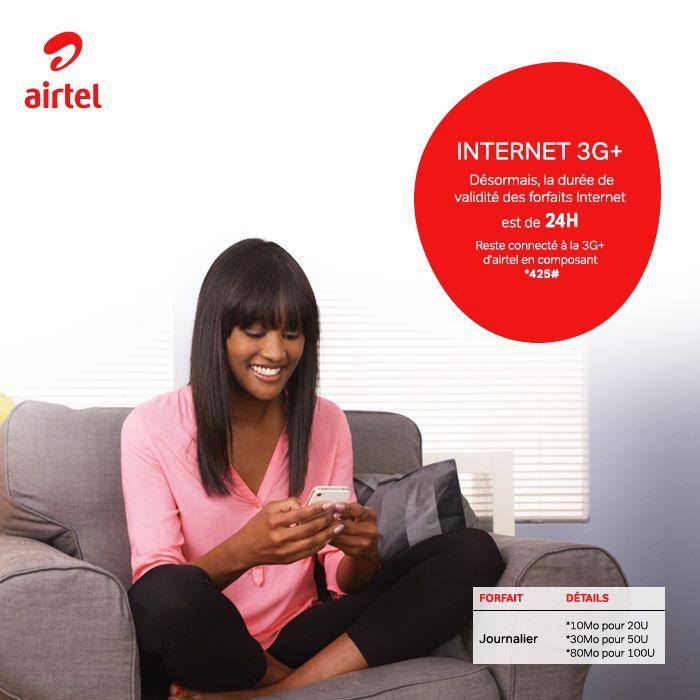 Forfait Journalier Airtel Les Nouveaux forfaits Airtel Internet,SMS, Appels de 10U et 5U