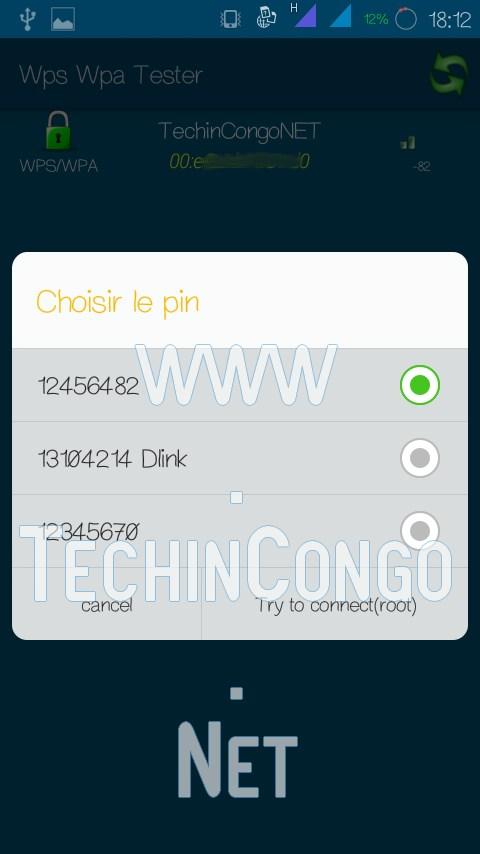 WPS WPA Tester Choisir PIN