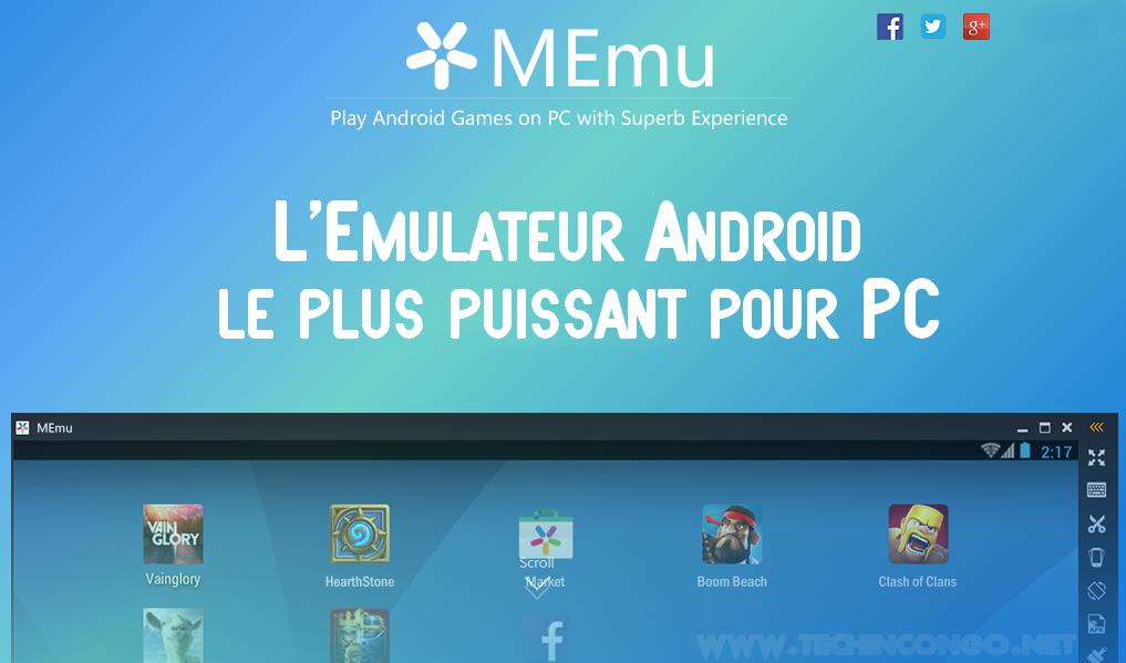 Emulateur android MEmu Télécharger Memu - un émulateur Android léger pour PC (Windows)