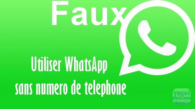 WhatSapp sans numero de telephone