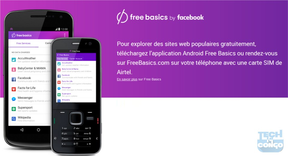 FreeBasics sur Airtel RDC Top 80 sites web gratuits avec Free Basics de Facebook