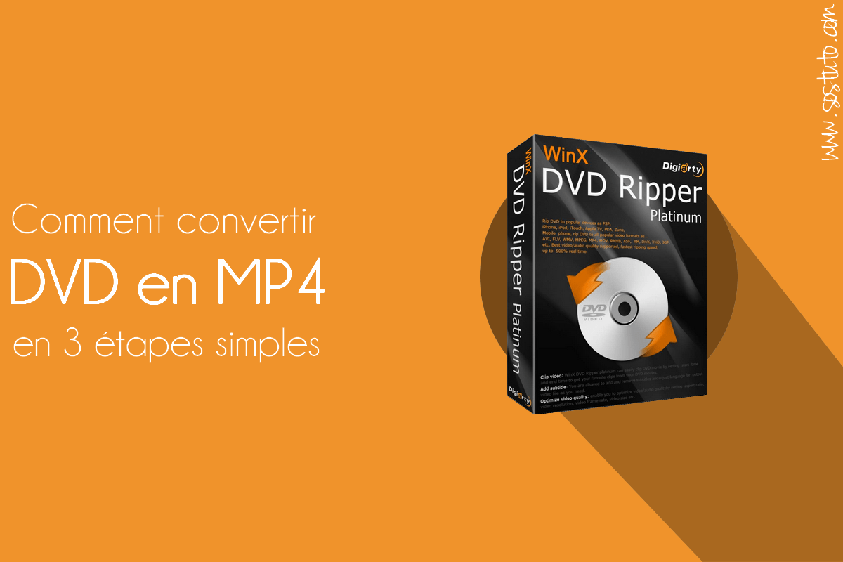 convertir dvd en mp4 Tuto : Comment Convertir un DVD en MP4 en 3 Étapes Faciles